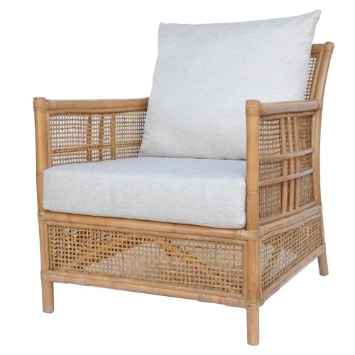 Fontana Rattan Accent Arm Chair, Canary Brown