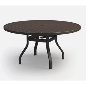 """54"""" Round Dining Table (with Hole) Ht: 27.5"""" 37XX Universal Aluminum Base (Model # Includes Both Top & Base)"""