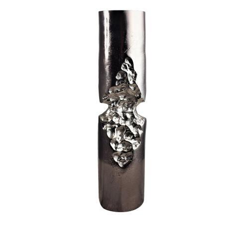 Large Dario Chiseled Cylinder Candle Holder I