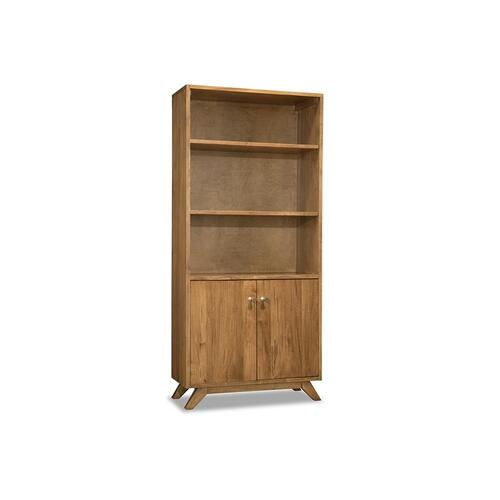- Tribeca Bookcase with Doors & 3 Adjustable Shelves