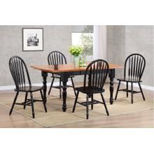 DLU-TDX3472-820-AB5PC  5 Piece Drop Leaf Extendable Dining Set  Arrowback Chairs
