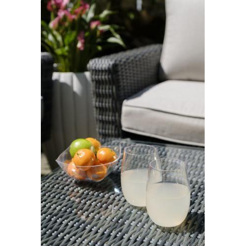 Valentina Wicker Alum Seating Grp w/Sunbrella cush