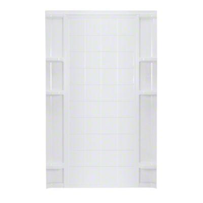 "Ensemble™ 60, Series 7213, 60"" x 72-1/2"" Tile Alcove Shower - Back Wall - White"