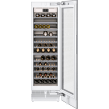 "400 series 400 series wine climate cabinet Fully integrated, panel ready, with glass door Niche width 24"" (61 cm)"