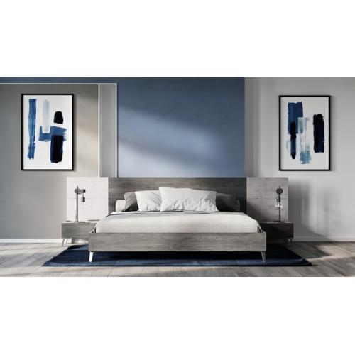 Nova Domus Bronx Italian Modern Faux Concrete & Grey Bed