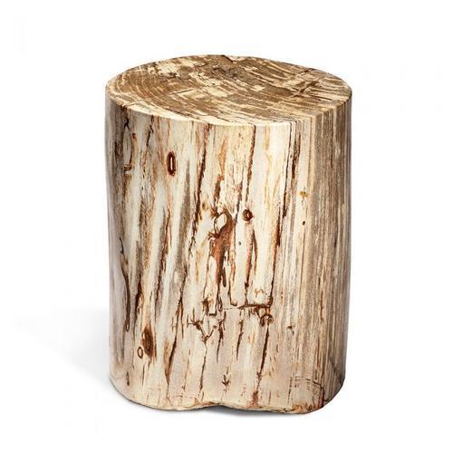 Myles Petrified Wood Side Table - Tall