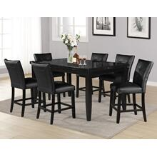 View Product - Markina 7 Piece Rectangular Black Marble Top Counter Set(Counter Table & 6 Counter Chairs)
