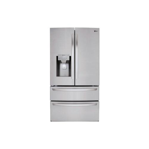 LG - 28 cu. ft. Smart wi-fi Enabled French Door Refrigerator