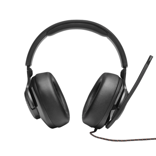 JBL Quantum 300 Hybrid wired over-ear gaming headset with flip-up mic