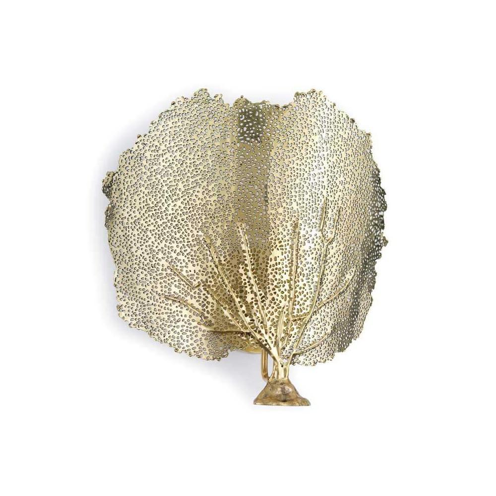 See Details - Sea Fan Sconce (brass)