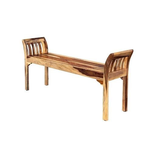 See Details - Sheesham Accents Bench, ART-2680