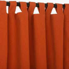 See Details - Sunbrella Canvas Brick Outdoor Curtain with Tabs