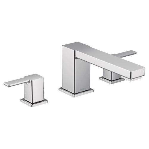90 Degree chrome two-handle roman tub faucet