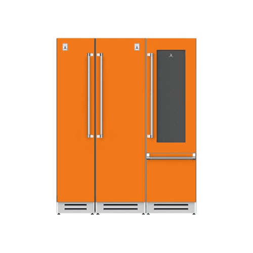 "Hestan - 66"" Column Freezer (L), Refrigerator and Wine Refrigerator ® Ensemble Refrigeration Suite - Citra"