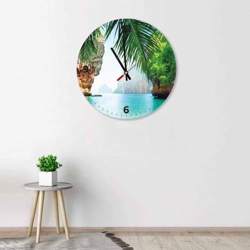 Grako Design - Phi Phi Island Round Square Acrylic Wall Clock