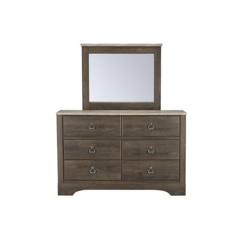 Rivervale Dark 6-Drawer Dresser, Dark Brown