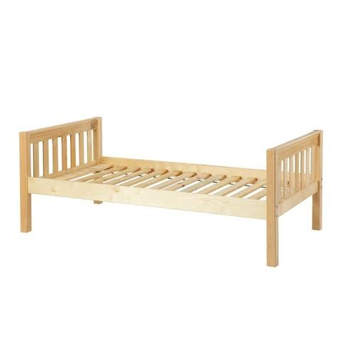 Maxtrix - Basic Bed (Low/Low) : Twin : Natural : Slat