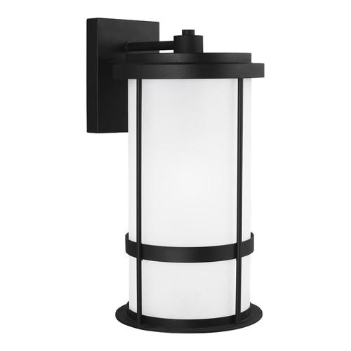 Wilburn Large One Light Outdoor Wall Lantern Black