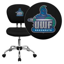 West Florida Argonauts Embroidered Black Mesh Task Chair with Chrome Base