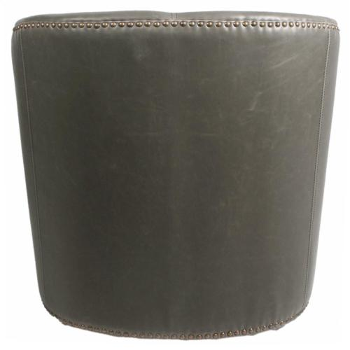 Product Image - Ernest Bonded Leather Swivel Accent Arm Chair, Vintage Gray