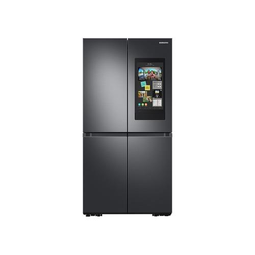 Samsung - 29 cu. ft. Smart 4-Door Flex™ refrigerator with Family Hub™ and Beverage Center in Black Stainless Steel