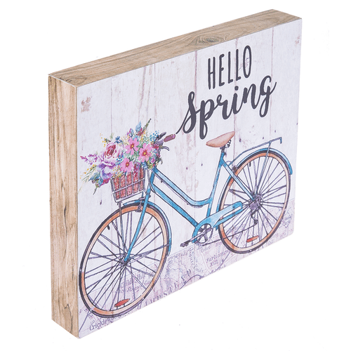 Springtime Bicycle Box Wall Plaques (4 pc. ppk.)