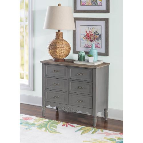 6-drawer Hall Chest, Charcoal
