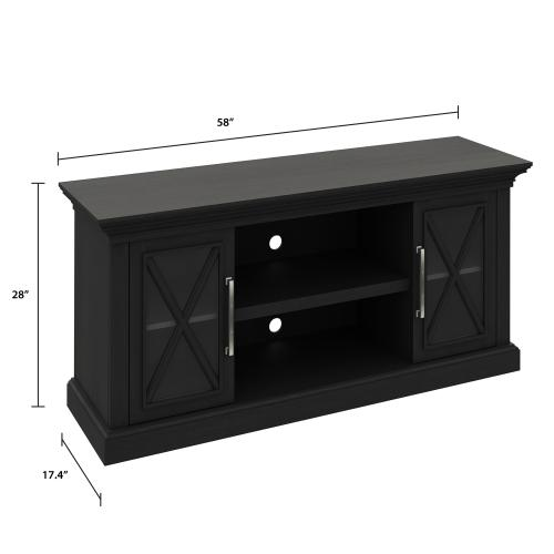 Cottage Grove TV Stand for TVs up to 65 inches, Black