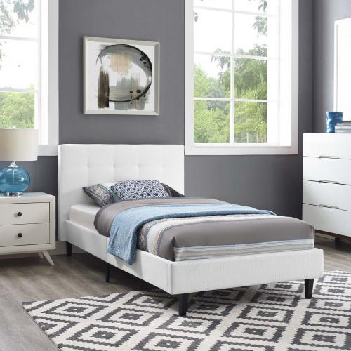 Linnea Twin Bed in White