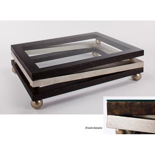 """Coffee Table with Glass 52x37x16"""""""