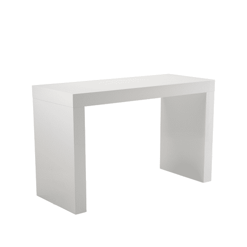 Faro C-shape Counter Table White
