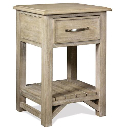 Riverside - Talford Natural - One Drawer Nightstand - Natural Finish