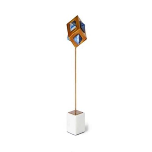 Uttermost - Lapis Cube Sculpture - Tall