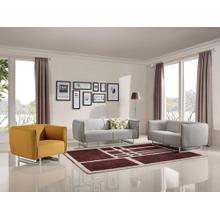 Divani Casa Medora Modern Grey & Yellow Fabric Sofa Set