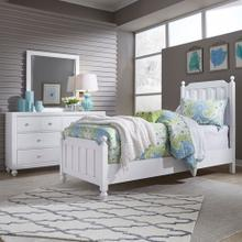 View Product - Twin Panel Bed, Dresser & Mirror