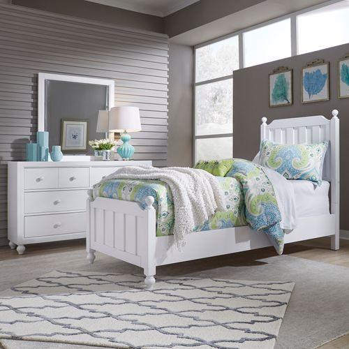 Liberty Furniture Industries - Twin Panel Bed, Dresser & Mirror