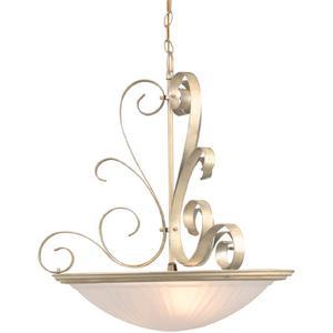 Semi-flush Lamp W/unique Metal Work, Pearl, 60wx3/b Type