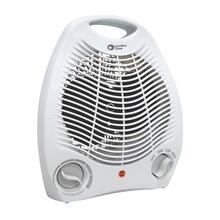 CZ40 Radiant Electric Wire Element Personal Fan Forced Heater, White