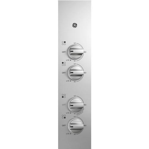 "GE Appliances Canada - GE 30"" Built-In Deep-Recessed Gas Cooktop Stainless Steel - JGP3030SLSS"