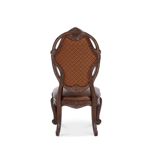 Leather/Fabric Side Chair