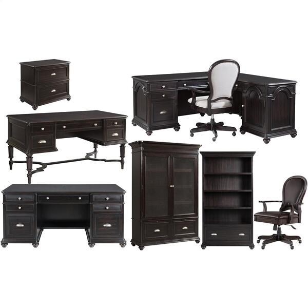 L-desk & Return - Kohl Black Finish
