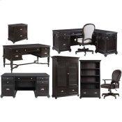 Clinton Hill - Round Back Uph Desk Chair - Kohl Black Finish