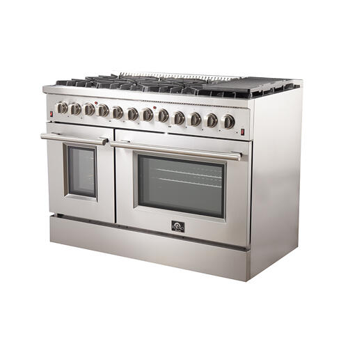 "GALIANO - Gold Professional 48"" Freestanding Dual Fuel Range"