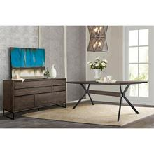 Nevada Rustic 2 piece set with Dining Table and Sideboard in Dark Brown