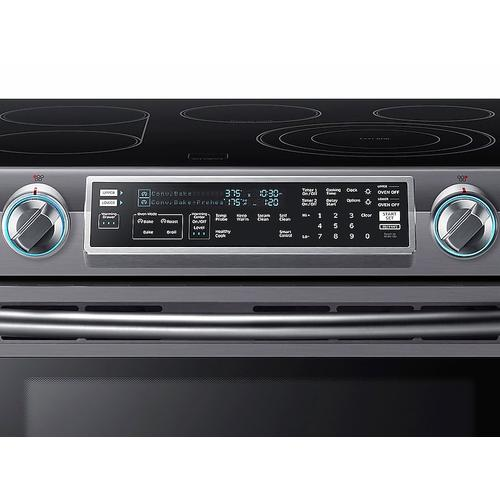 5.8 cu. ft. Slide-In Electric Range with Flex Duo™ & Dual Door in Black Stainless Steel