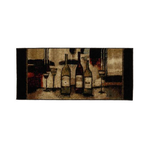 Mohawk - Wine And Glasses, Brown- Rectangle