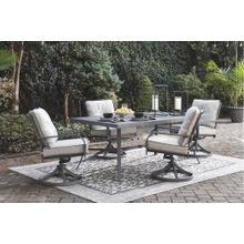 Donnalee Bay Outdoor Dining Table and 6 Swivel Chairs