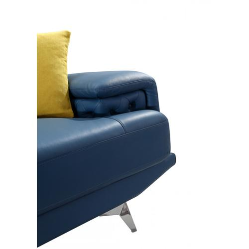 Divani Casa T737B Modern Blue Leather Sofa Set