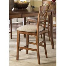 View Product - 24 Inch X Back Upholstered Barstool