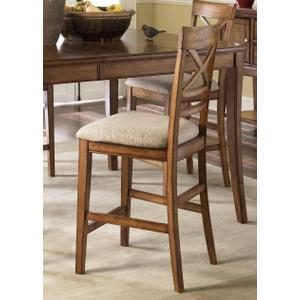 Liberty Furniture Industries - 24 Inch X Back Upholstered Barstool